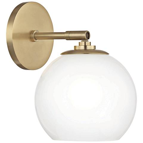 "Mitzi Tilly 9"" High Aged Brass LED Wall Sconce"