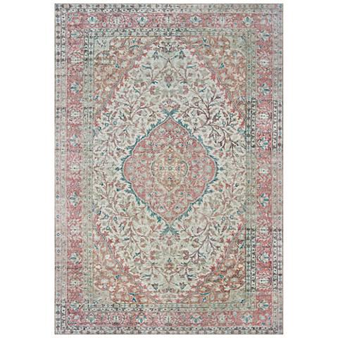 Sofia 85812 Ivory and Pink Area Rug