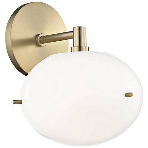 "Mitzi Winnie 8 1/2"" High Aged Brass LED Wall Sconce"