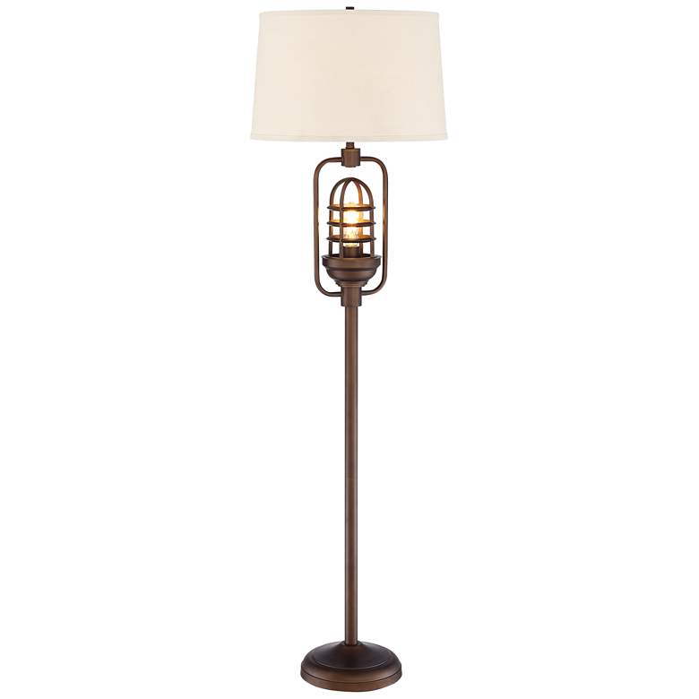 Hobie Oil-Rubbed Bronze Floor Lamp w/ Edison LED Night Light