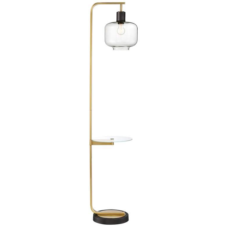 Possini Euro Milan Floor Lamp with Glass Tray