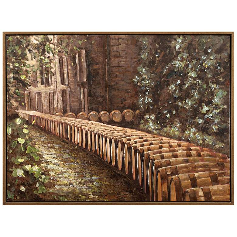 """Bourbon Country 48"""" Wide Framed Canvas Wall Art"""