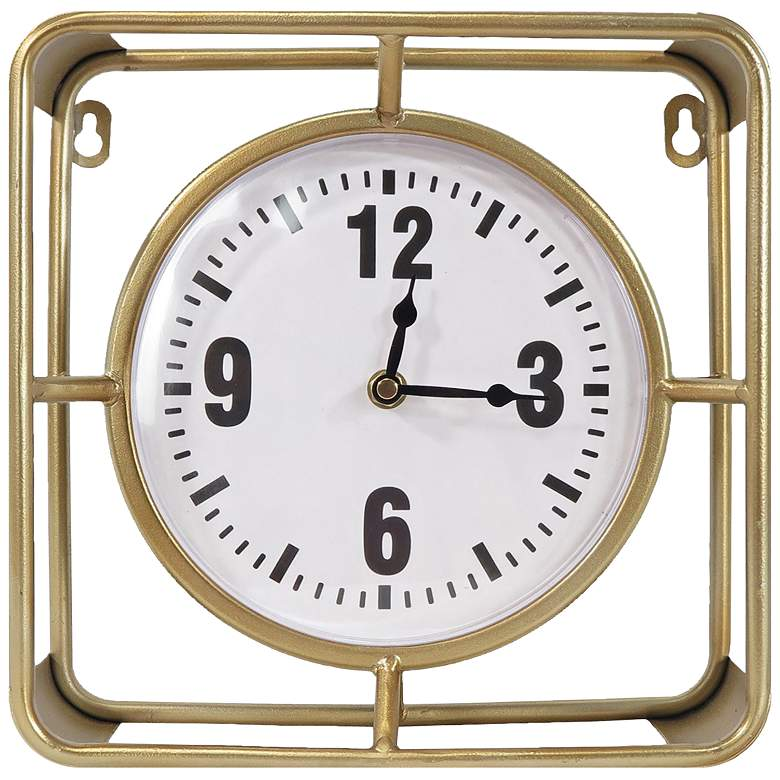 "Forward Timing Gold 10"" Square Table Clock"