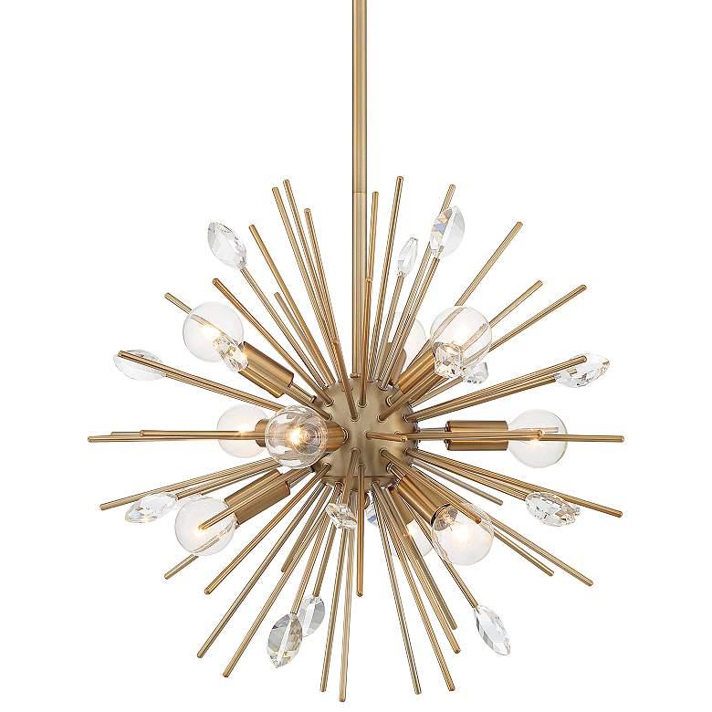 "Possini Euro Janae 18""W Antique Gold Sputnik Pendant Light"