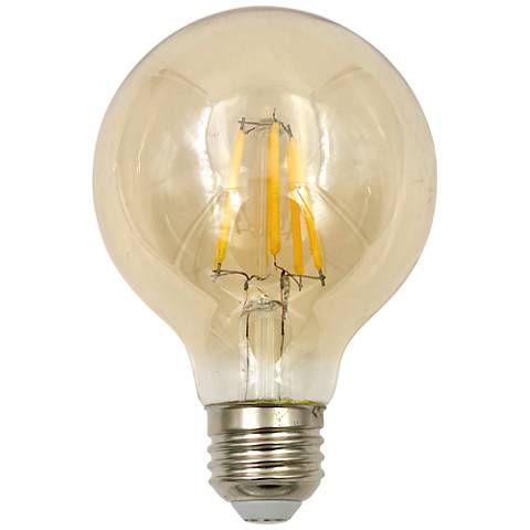 60W Equivalent Tesler Amber 8W LED Dimmable Standard Bulb