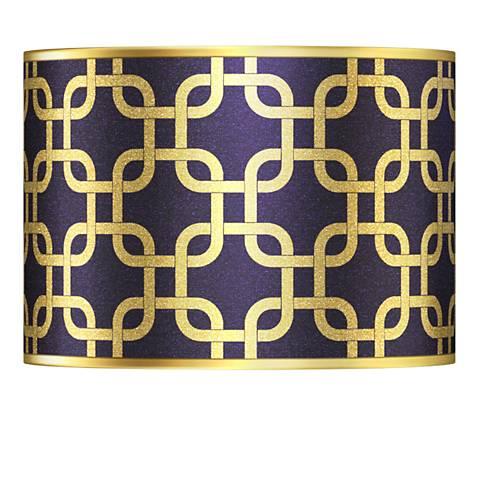 Lattice Gold Metallic Giclee Lamp Shade 13.5x13.5x10 (Spider