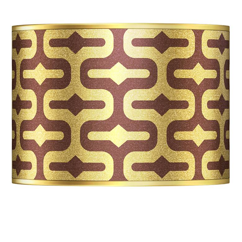 Reflection Gold Metallic Giclee Lamp Shade 13.5x13.5x10 (Spider)