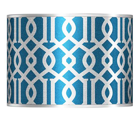 Chain Reaction Silver Metallic Lamp Shade 13.5x13.5x10 (Spider)