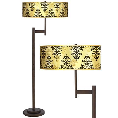 Damask Shadow Gold Metallic Light Blaster™ Floor Lamp