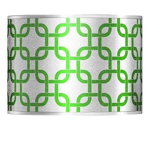 Lattice Silver Metallic II Lamp Shade 13.5x13.5x10 (Spider)