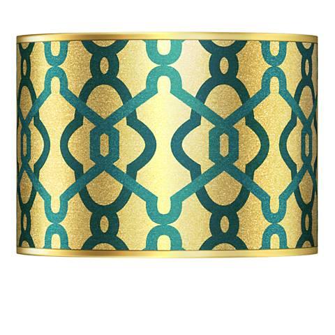 Hyper Links Gold Metallic Giclee Lamp Shade 13.5x13.5x10 (Spider)