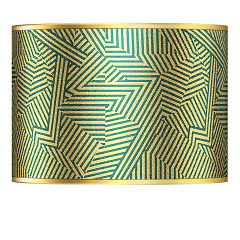 Labyrinth Gold Metallic Giclee Lamp Shade 13.5x13.5x10 (Spider)