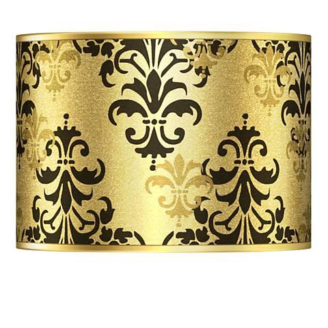 Damask Shadow Gold Metallic Lamp Shade 13.5x13.5x10 (Spider)