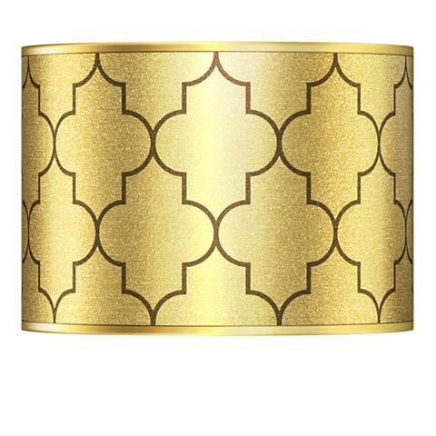 Tangier Gold Metallic Giclee Lamp Shade 13.5x13.5x10 (Spider)