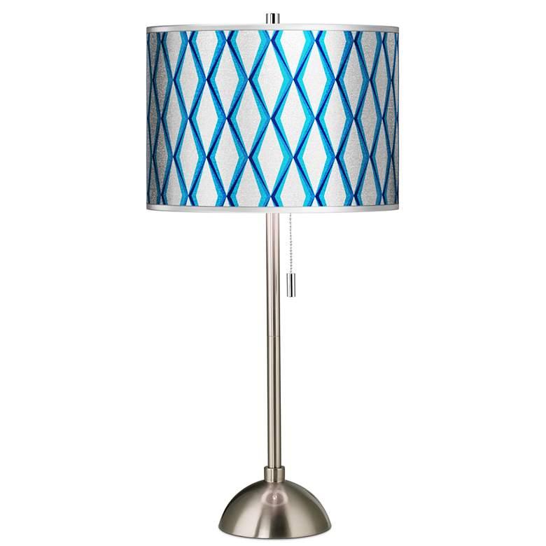 Matrix Silver Metallic Giclee Brushed Nickel Table Lamp