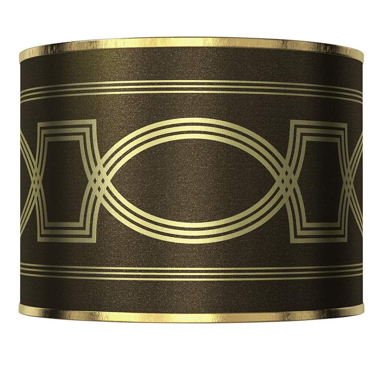 Concave Gold Metallic Giclee Lamp Shade 13.5x13.5x10 (Spider)
