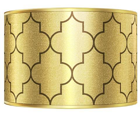 Tangier Gold Metallic Giclee Shade 12x12x8.5 (Spider)
