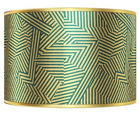 Labyrinth Gold Metallic Giclee Shade 12x12x8.5 (Spider)