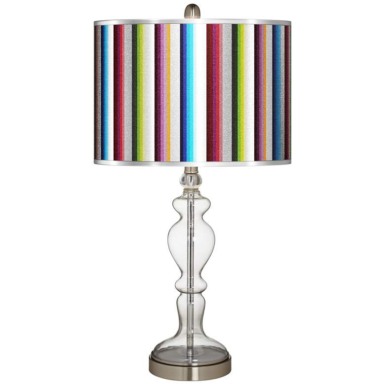 Technocolors Silver Metallic Apothecary Clear Glass Table Lamp