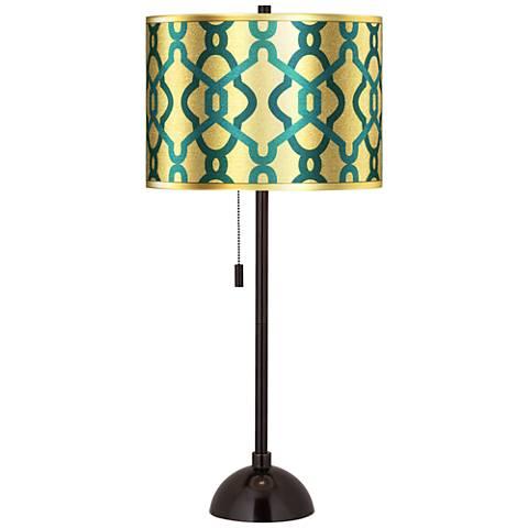 Hyper Links Gold Metallic  Tiger Bronze Club Table Lamp