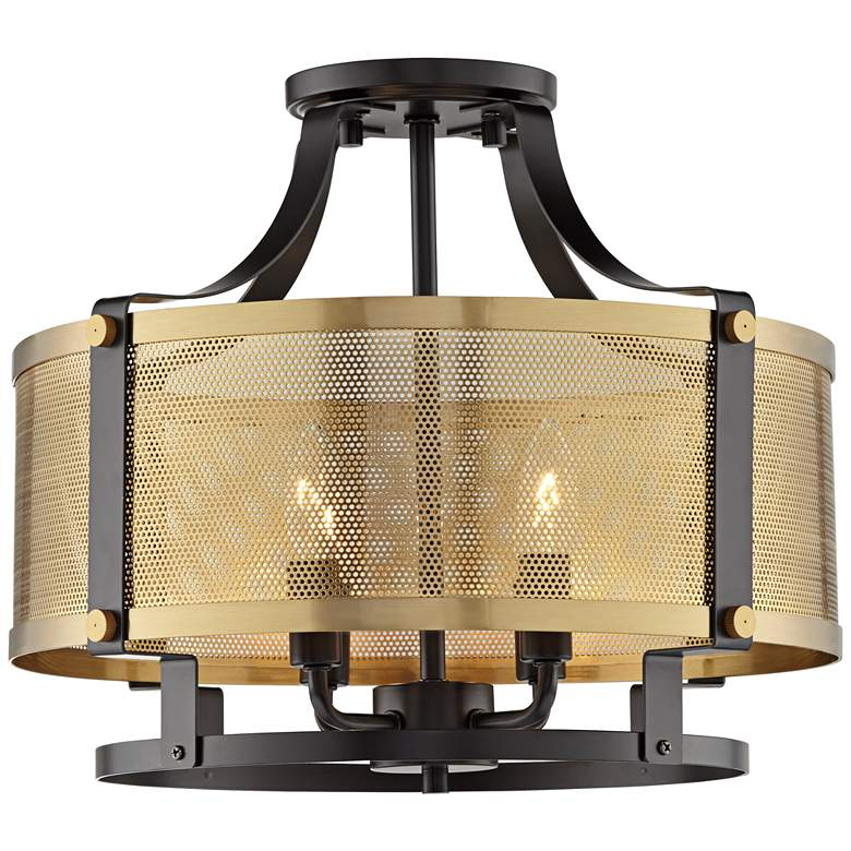 "Elysium 16 3/4"" Wide Antique Brass 4-Light Ceiling Light"