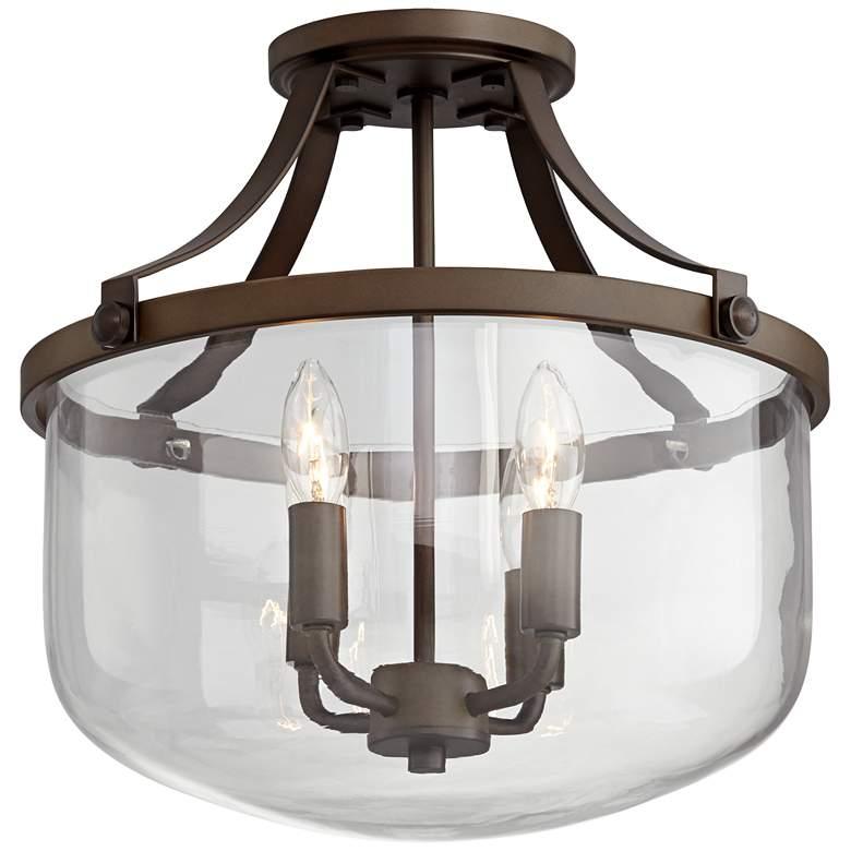 "Possini Euro Harris 15"" Wide Bronze 4-Light Ceiling Light"