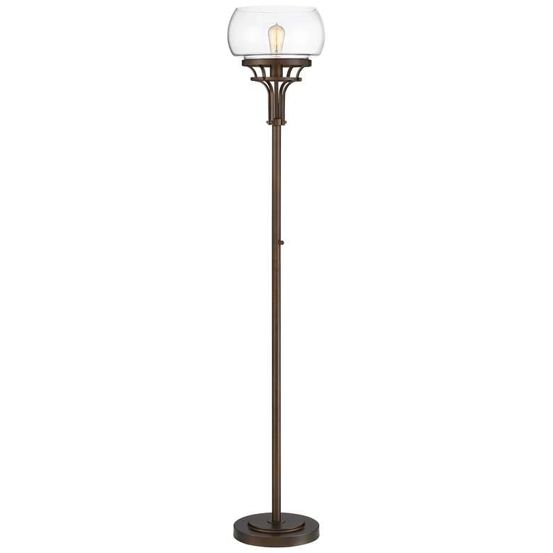 Franklin Iron Works Luz Torchiere Floor Lamp