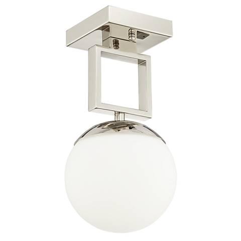 "Possini Euro Venetia 7""W Polished Nickel LED Ceiling Light"