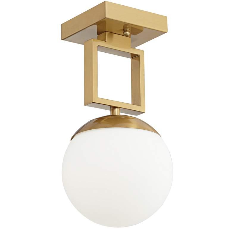 """Possini Euro Venetia 7"""" Wide Warm Gold LED Ceiling Light"""
