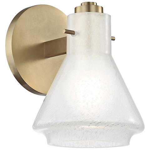"Mitzi Rosie 7 1/2"" High Aged Brass Wall Sconce"
