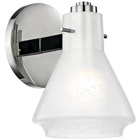 """Mitzi Rosie 7 1/2"""" High Polished Nickel Wall Sconce"""