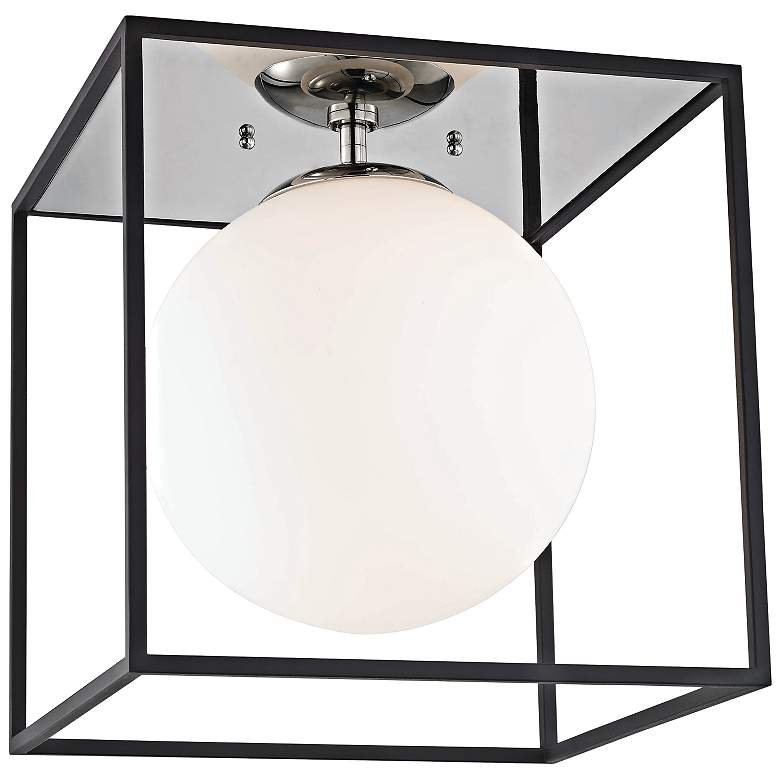 """Mitzi Aira 14"""" Wide Polished Nickel Ceiling Light"""