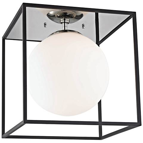 "Mitzi Aira 14"" Wide Polished Nickel Ceiling Light"