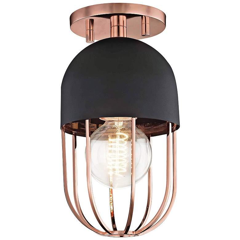 "Mitzi Haley 5 1/2"" Wide Polished Copper Ceiling Light"