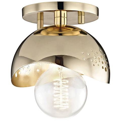 "Mitzi Heidi 5 1/2"" Wide Polished Brass Ceiling Light"