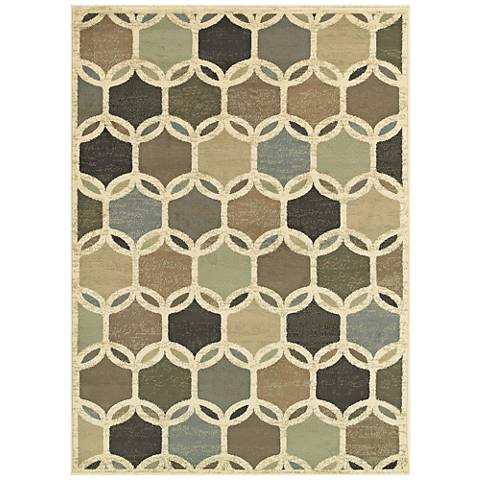 Brentwood 090W9 Ivory Multi-Color Area Rug