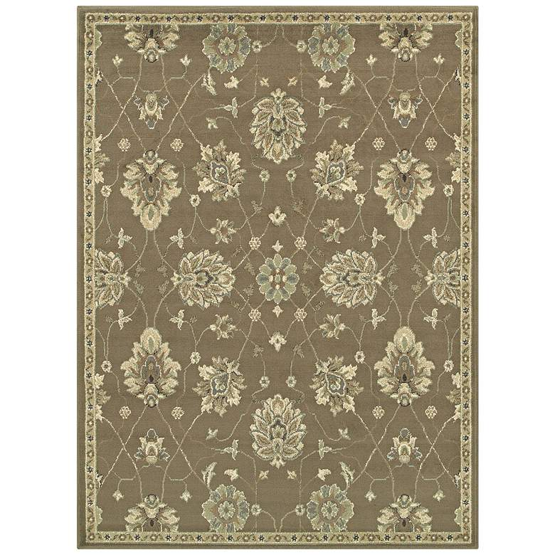 "Brentwood 1330E 5'3""x7'3"" Brown and Beige Area Rug"