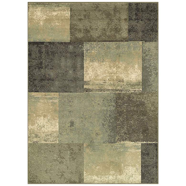 Brentwood 2061Z Brown and Green Area Rug