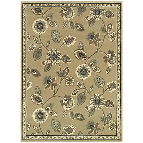 Brentwood 501J9 Stone and Blue Area Rug