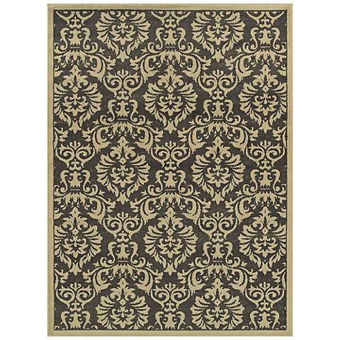 Brentwood 530K9 Charcoal and Ivory Area Rug