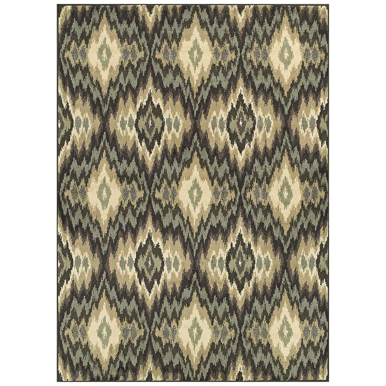 Brentwood 531K9 Ivory and Blue Area Rug