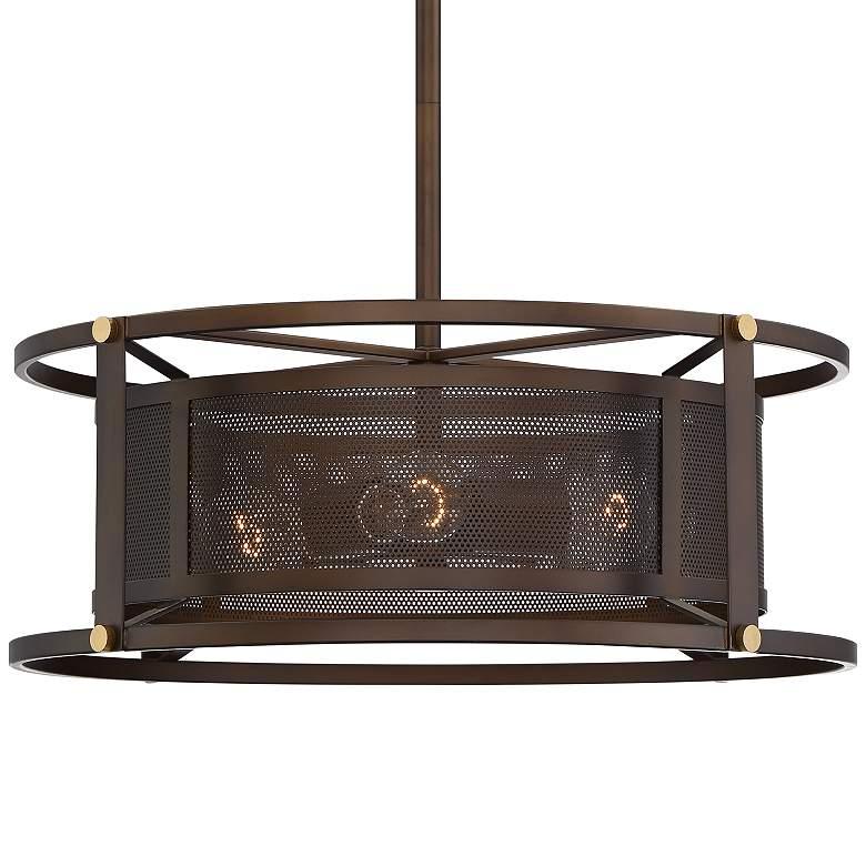 "Derek 20"" Wide Oil-Rubbed Bronze 4-Light Pendant"