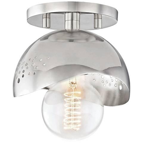 "Mitzi Heidi 5 1/2"" Wide Polished Nickel Ceiling Light"