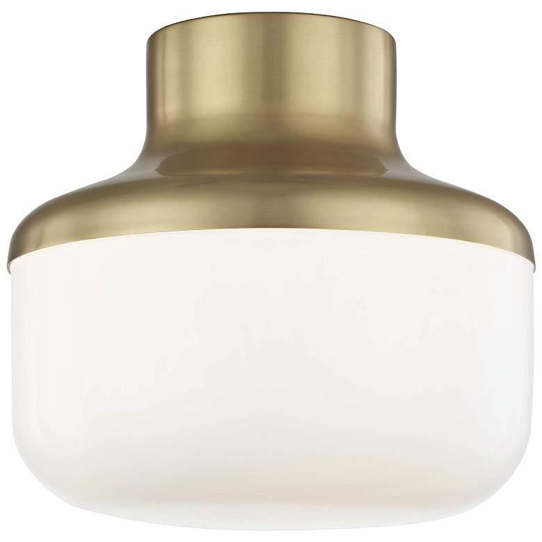 """Mitzi Livvy 9"""" Wide Aged Brass Ceiling Light"""