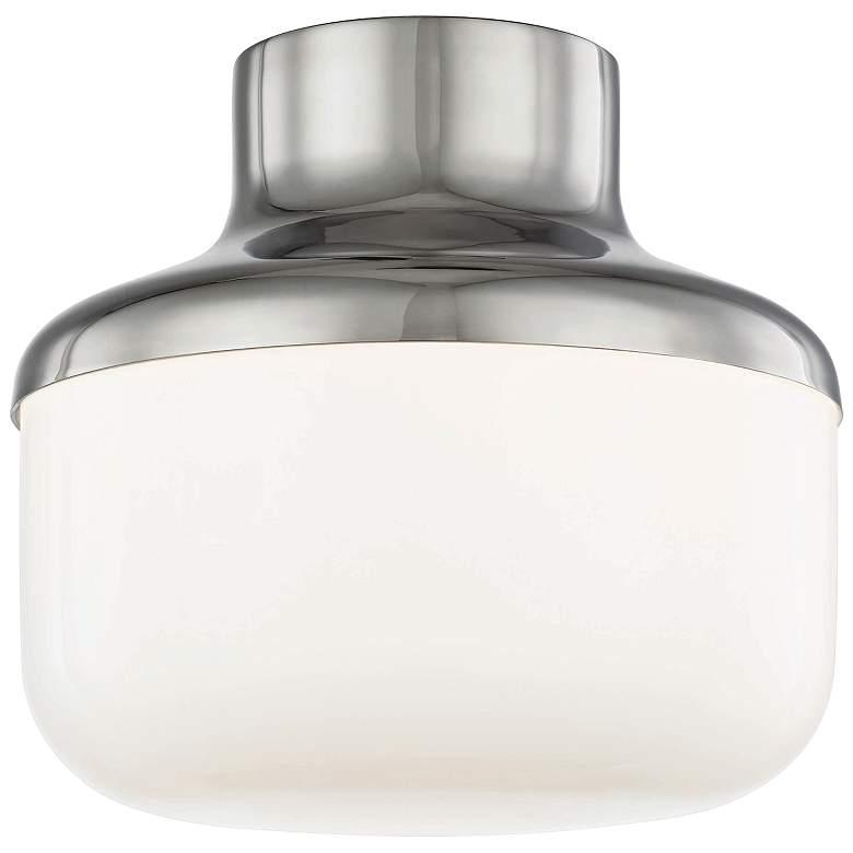 "Mitzi Livvy 9"" Wide Polished Nickel Ceiling Light"