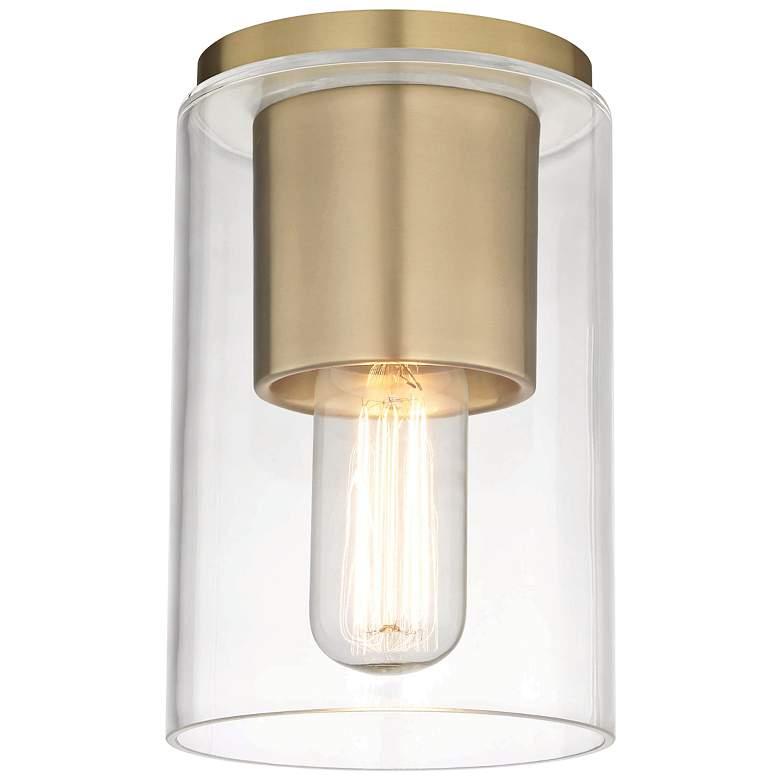 "Mitzi Lula 5 1/4"" Wide Aged Brass Ceiling Light"