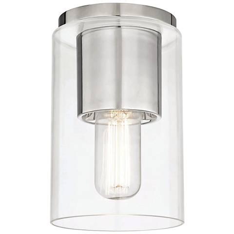 "Mitzi Lula 5 1/4"" Wide Polished Nickel Ceiling Light"