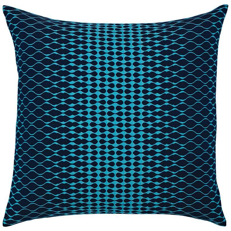 """Optic Azure Blue 20"""" Square Indoor-Outdoor Decorative Pillow"""