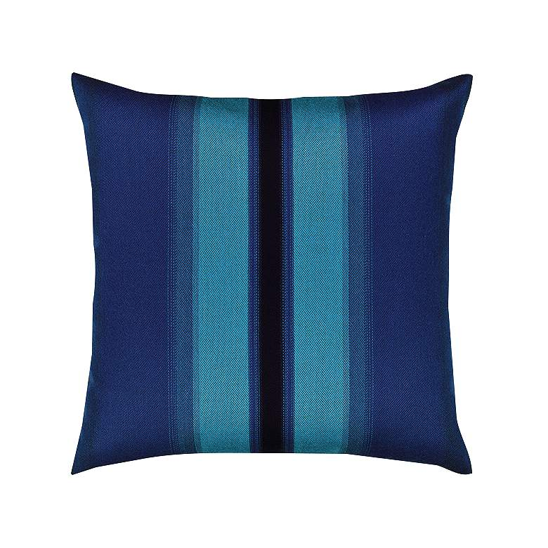 "Ombre Azure Blue 20"" Square Indoor-Outdoor Decorative Pillow"