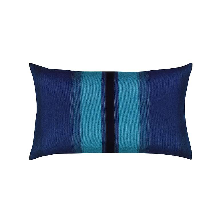 """Ombre Azure Blue 20"""" x 12"""" Lumbar Indoor-Outdoor Pillow"""